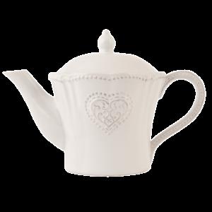 valkoinen teekannu