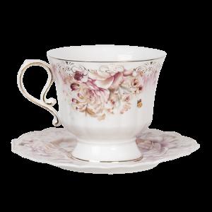 ruusuinen kahvikuppi