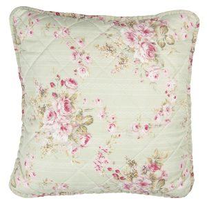 vaalean vihreä ruusu tyynynpäällinen