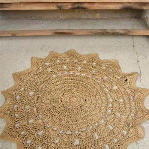 jdl juuttimatto pyöreä kukka 90cm